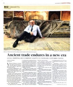 Mansour talks to the Sacramento Business Journal about the changing market for providing Pakistani rugs to a discerning American market