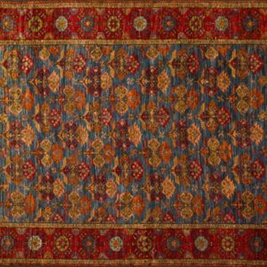 "Balouch rectangular 5' by 6' 7"" rug from Afghanistan and made from 100% wool"