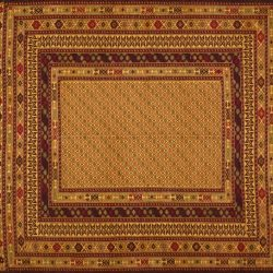 "Somakh rectangular 4' 5"" by 6' 0"" rug with geometric pattern from Afghanistan"