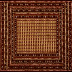 "Balouch rectangular 4' 3"" by 6' 5"" rug with bold geometric pattern from Afghanistan"