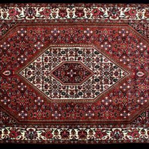 "Bijar rectangular 3' 1"" by 5' 5"" rug with medallion pattern from Persia-Iran"