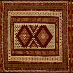 "Balouch rectangular 3' 10"" by 5' 8"" rug with geometric pattern from Afghanistan"