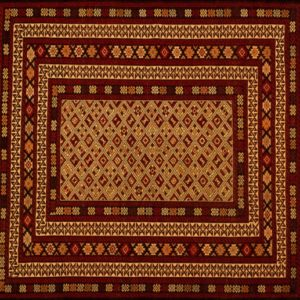 "Balouch rectangular 4' 4"" by 6' 2"" rug with geometric pattern from Afghanistan"