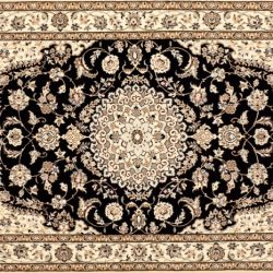"Nain rectangular 3' 7"" by 5' 8"" rug with medallion pattern from Persia-Iran"