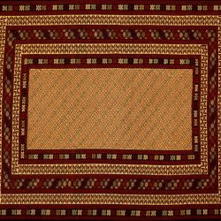 "Somakh rectangular 4' 4"" by 6' 2"" rug with geometric pattern from Afghanistan"