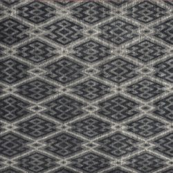 "Transitional rectangular 8' 1"" by 10' 1"" rug with contemporary pattern from India - Charcoal & Gray"