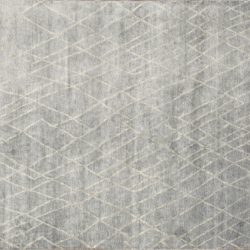 "Transitional rectangular 7' 10"" by 9' 10"" rug with contemporary pattern from India - Light Blue"
