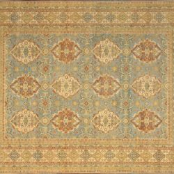 "Haji Jalili rectangular 9' 11"" by 13' 7"" rug with all-over pattern from India"