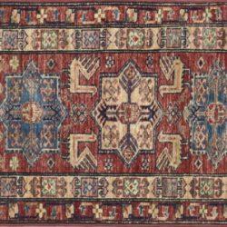 "Kazak runner 2' 1"" by 5' 6"" rug with geometric pattern from Afghanistan - sku# 14966"