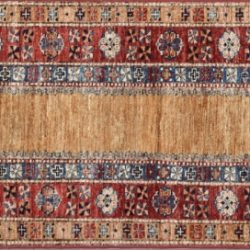 "Caucasian runner 2' 1"" by 6' 4"" rug with geometric pattern from Afghanistan"