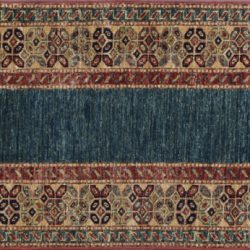 "Caucasian runner 2' 2"" by 5' rug with geometric pattern from Afghanistan"