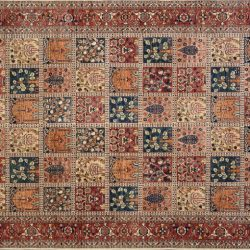 "Bakhtiari rectangular 9' 11""x13' 11"" rug with all-over pattern from Afghanistan - multi-color"