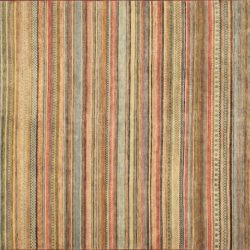 "Gabbeh rectangular 7' 11"" by 9' 9"" rug with all-over pattern from India - stripes"