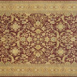 "Agra rectangular 9' 10"" by 13' 9"" rug with all-over pattern from India"