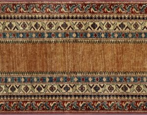 "Caucasian runner 2' 6"" by 8' 5"" rug with geometric pattern from Afghanistan"