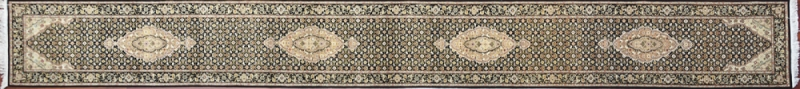 "Tabriz runner 2' 6"" by 20' 0"" rug with all-over pattern from China - Long"