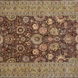 "Sarouk rectangular 10' 0"" by 13' 9"" rug with all-over pattern from Afghanistan"