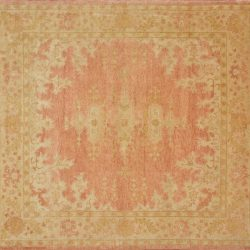 "Oushak square 10' 0"" by 10' 0"" rug with all-over pattern from China"