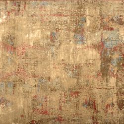 "Transitional rectangular 8' 9"" by 12' 3"" rug with contemporary pattern from India - Tan & Tan"