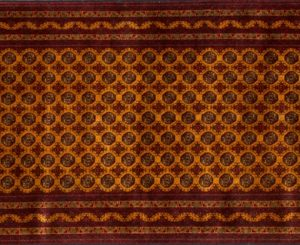 "Turkoman runner 3' 0"" by 9' 9"" rug with geometric pattern from Afghanistan"