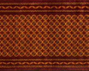 "Turkoman runner 2' 11"" by 9' 10"" rug with geometric pattern from Afghanistan"