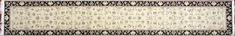 "Nain runner 2' 5"" by 16' 0"" rug with all-over pattern from China"