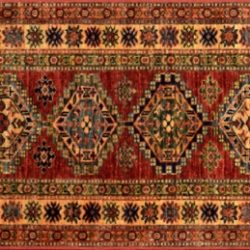 "Shirvan runner 2' 1"" by 6' 2"" rug with medallion pattern from Afghanistan"