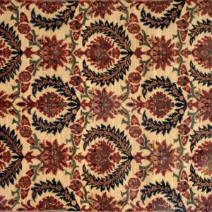 "Susani rectangular 8' 1"" by 9' 8"" rug with floral pattern from Afghanistan"
