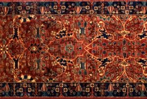 "Farahan runner 2' 6"" by 9' 7"" rug with a floral pattern made in Afghanistan with 228 knots/inch"