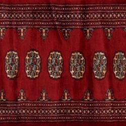 "Bokhara runner 2' 1"" by 5' 2"" rug with geometric pattern from Pakistan - Red"