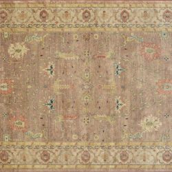 "Ardabil rectangular 9' 11"" by 13' 10"" rug with all-over pattern from India"