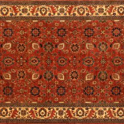 "Farahan rectangular 8' 11"" by 12' 0"" rug made in Afghanistan with 200 knots/inch"