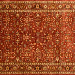 "Farahan rectangular 9' 0"" by 11' 0"" rug made in Afghanistan with 180 knots/inch"