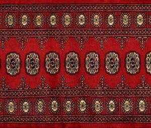 "Bokhara runner 2' 8"" by 7' 9"" rug with geometric pattern from Pakistan - Red"
