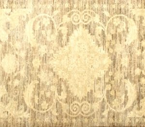 "Ziegler runner 2' 7"" by 7' 9"" rug with floral pattern from Afghanistan"