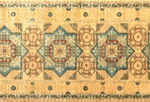 "Mamluk runner 2' 10"" by 10' 5"" rug with geometric pattern from Afghanistan"